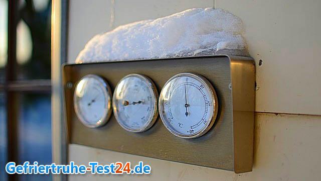 gefriertruhe temperatur