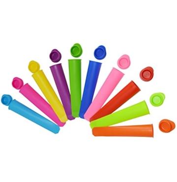 Gefriertruhe Test - Bekith 10 Stück Silikon-Eis-Pop Maker Set,Ice Pop Formen,und sie reinigen super einfach. - 2