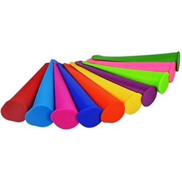 Gefriertruhe Test - Bekith 10 Stück Silikon-Eis-Pop Maker Set,Ice Pop Formen,und sie reinigen super einfach. - 3
