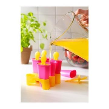Gefriertruhe Test - Ikea Chosigt Eis Lutscher Stieleisformen Gefrierbehälter für Eislutscher 6er Set (Gelb / Rosa) - 2