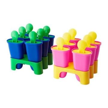 Gefriertruhe Test - Ikea Chosigt Eis Lutscher Stieleisformen Gefrierbehälter für Eislutscher 6er Set (Gelb / Rosa) - 1